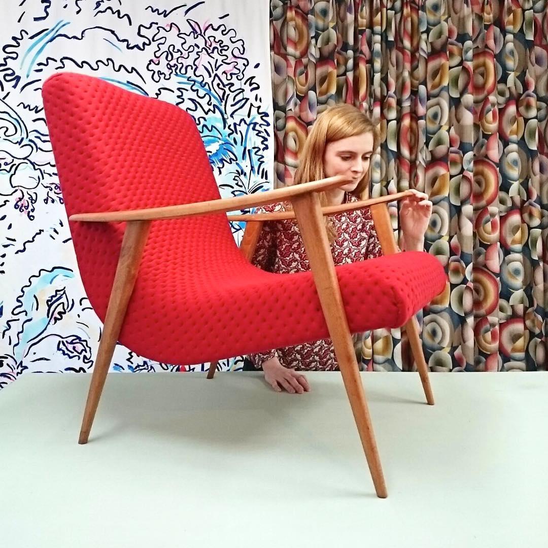 #nouveauté #atelier #showroom #tapissier #upholstery #1950 #midcentury #danishfurniture #armchair #textile @febrik_fabrics #design #realisation @ateliervladimirboson