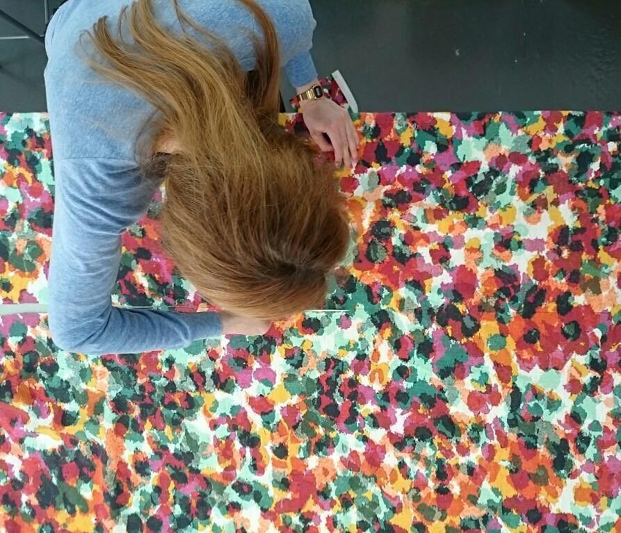 #workinprogress #atelier #rideaux #curtains #courtepointière #textile #rebelle #by #soniarykiel #for #lelievre #multicolors