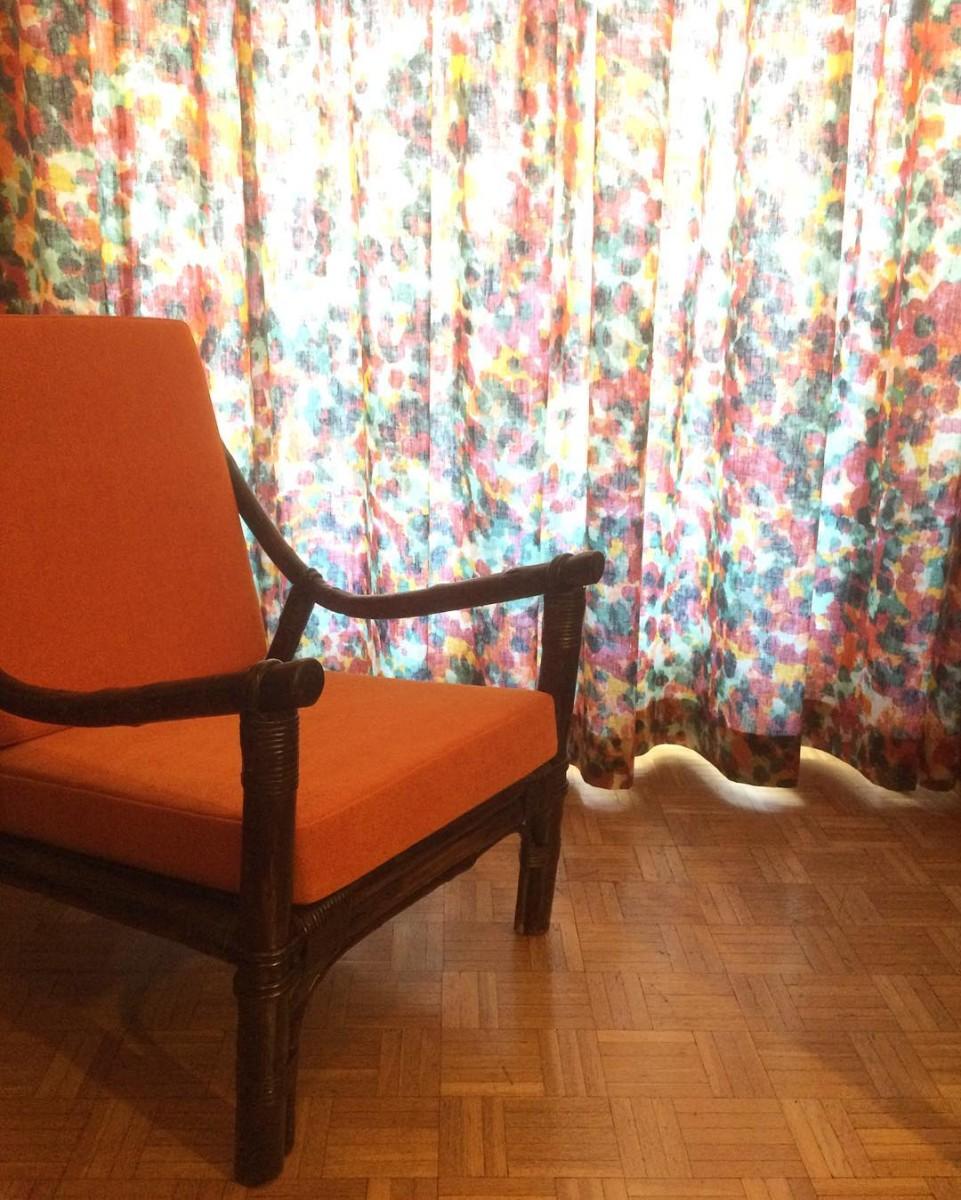 #livraison #lausanne #rideaux #curtains #fauteuil #armchair #courtepointière #tapissier #textiles #lelièvre #soniarykiel #colors @ateliervladimirboson