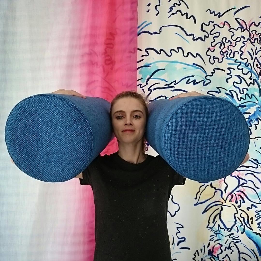 🔵🔵 #atelier #courtepointière #pillow #polochon #textile #scion #blue #colors
