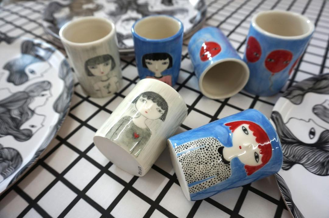 #nouveauté #atelier #showroom @ateliervladimirboson #ceramics #cups #vase #plateau #tray #wood #handmade #artist @kinska