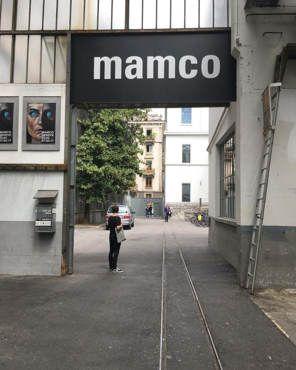 at work…with  @ateliervladimirboson #mamco #genève