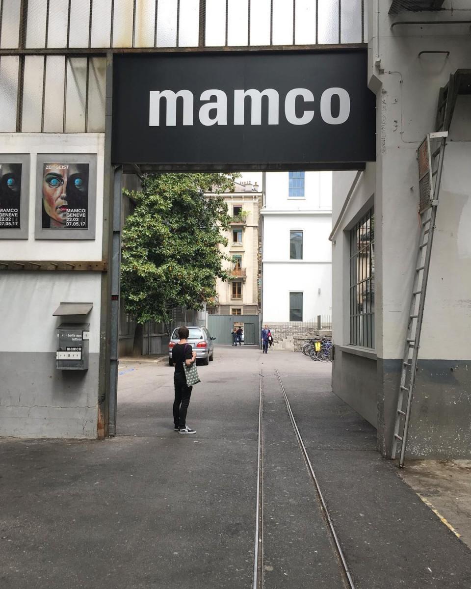 at work…with  @ateliervladimirboson #mamco #genève