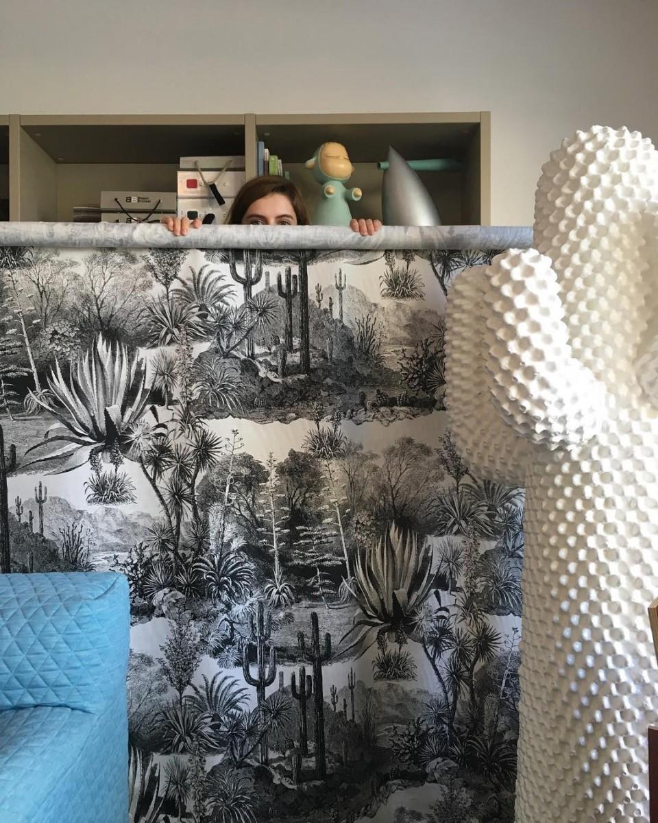 🌵🌵🌵 #workinprogress #atelier #showroom #courtepointière #blinds #textile #cactus #pampa @lamaisonpierrefrey #blackandwhite